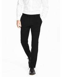 Banana Republic Modern Slim Black Wool Suit Trouser