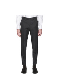 Tiger of Sweden Black And Grey Wool Tilman Trousers