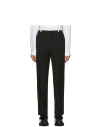 Valentino Black And Off White Mohair Trousers