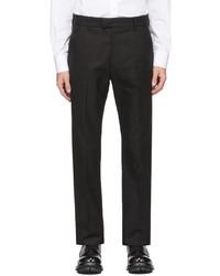 Alexander McQueen Black Cotton Gabardine Trousers