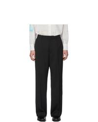 Our Legacy Black Herringbone Borrowed Chino Trousers