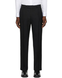 Ernest W. Baker Black Pleated Straight Leg Trousers