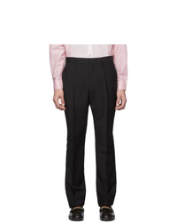Burberry Black Side Tape Logo Trousers