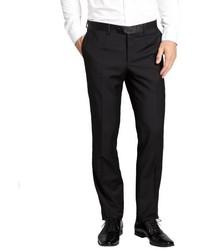 Dolce & Gabbana Black Stretch Wool Tux Pants