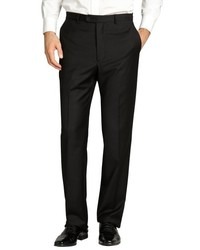Joseph Abboud Black Wool Flat Front Trousers