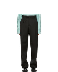 Bottega Veneta Black Wool Loose Trousers