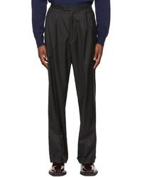 Winnie New York Black Wool Pleated Trousers