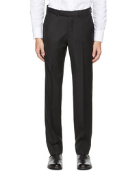 Ermenegildo Zegna Black Wool Twill Trousers