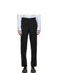 Comme des Garcons Homme Deux Black Wool Yarn Dyed Trousers