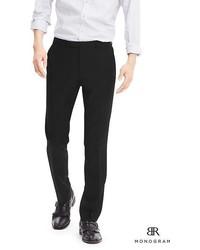 Banana Republic Br Monogram Black Italian Wool Suit Trouser