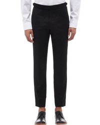 Brooklyn Tailors Satin Stripe Tuxedo Trousers Black