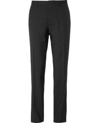 Burberry London Black Relaxed Fit Wool Suit Trousers