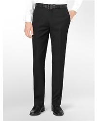 Calvin Klein Classic Fit Black Wool Suit Pants