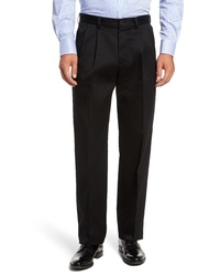 Nordstrom Men's Shop Classic Smartcare Relaxed Fit Double Pleated Cotton Pants