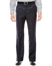 Collection Collection By Michl Strahan Black Herringbone Flat Front Suit Pants Classic Fit