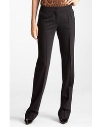 Dolce & Gabbana Dolcegabbana Straight Leg Stretch Wool Trousers