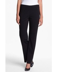 Eileen fisher straight leg ponte pants black large medium 98111