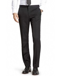 Flat front wool tuxedo trousers medium 682306