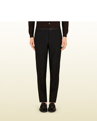 Gucci Wool Mohair Skinny Evening Pant