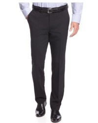 Kenneth Cole New York Dress Pants Black Solid Slim Fit