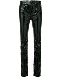 Saint Laurent Mid Rise Vinyl Trousers