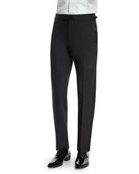 Tom Ford Oconnor Base Tuxedo Trousers With Satin Trim Black