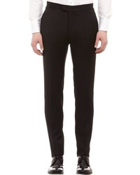 Barneys New York Piped Wool Gabardine Trousers Black Size 30