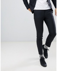 Jack & Jones Premium Suit Trouser In Super Slim Fit Black