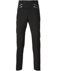 Saint Laurent Zip Detail Tailored Trousers