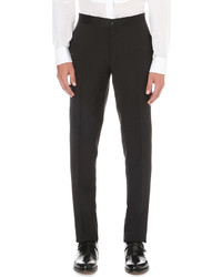 Canali Silk Trims Wool And Mohair Blend Trousers