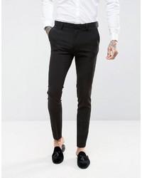 Asos Super Skinny Fit Suit Pants In Black