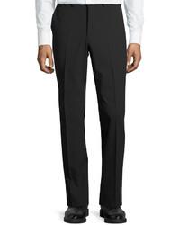 DKNY Wool Blend Straight Leg Trousers Black