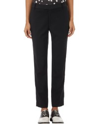 Band Of Outsiders Worsted Tuxedo Trousers Black Size 0
