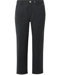 Rag & Bone Y Cropped Cotton Blend Twill Straight Leg Pants