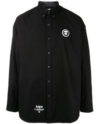AAPE BY A BATHING APE Aape By A Bathing Ape Ape Silhouette Button Down Shirt