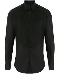 Dolce & Gabbana Bib Collar Cotton Shirt