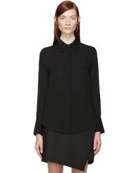 3.1 Phillip Lim Black Beaded Collar Shirt