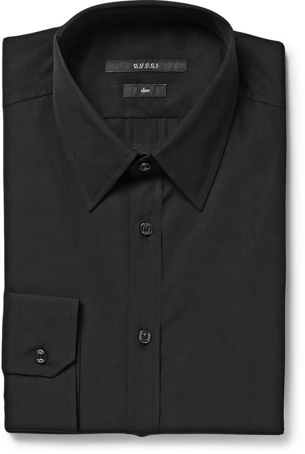 f1c120229 ... gucci black cotton poplin shirt where to how to wear ...