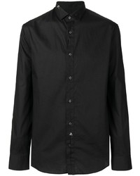 Philipp Plein Black Formal Shirt