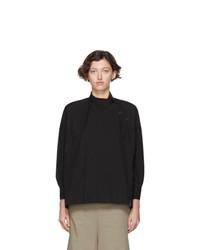 Regulation Yohji Yamamoto Black R Zipper Open Button Shirt