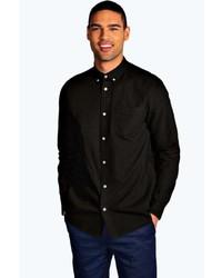 Boohoo Long Sleeve Laundered Oxford Shirt