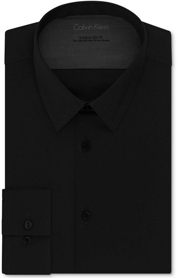 Calvin klein x extra slim fit solid dress shirt where to for Calvin klein x fit dress shirt