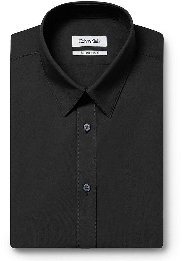 Calvin klein x extra slim solid dress shirt where to buy for Extra slim dress shirt