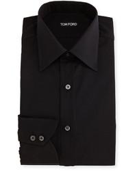 Tom Ford Classic Barrel Cuff Dress Shirt Black