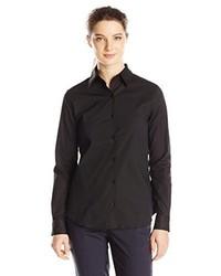 Dickies Girl Juniors Long Sleeve No Pocket Button Front Shirt