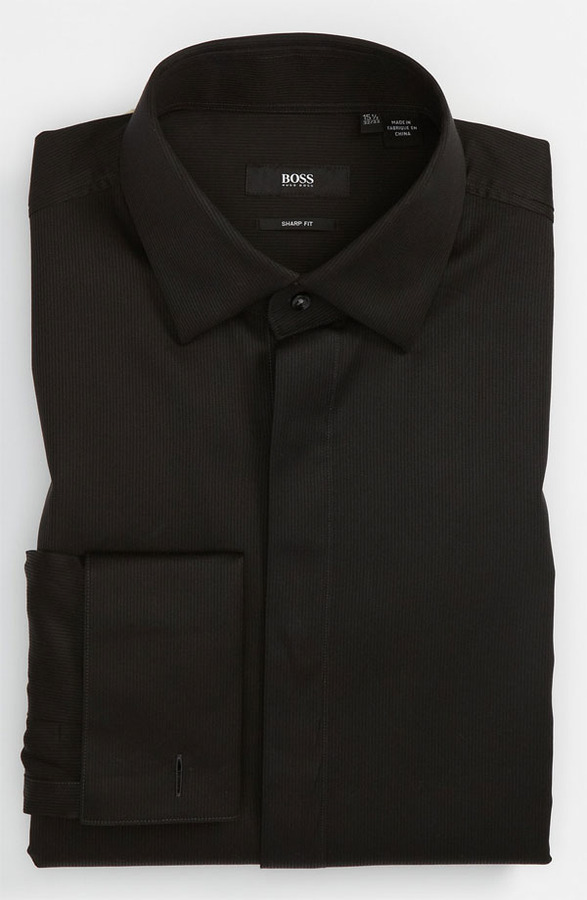 hugo boss boss hugo boss sharp fit tuxedo shirt male