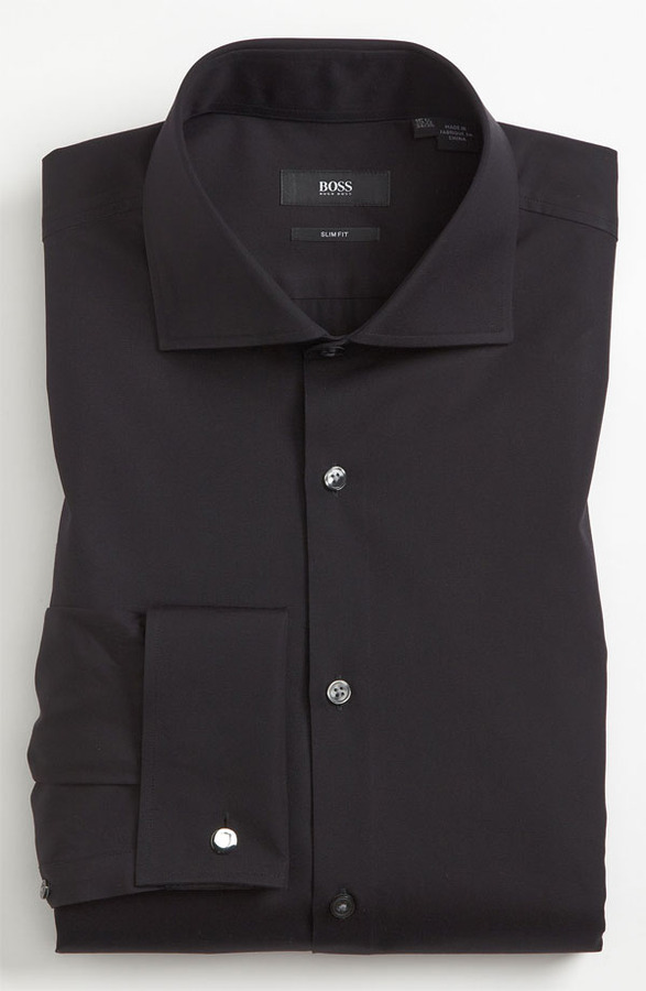 Black Dress Shirt Hugo Boss Boss Slim Fit Dress Shirt