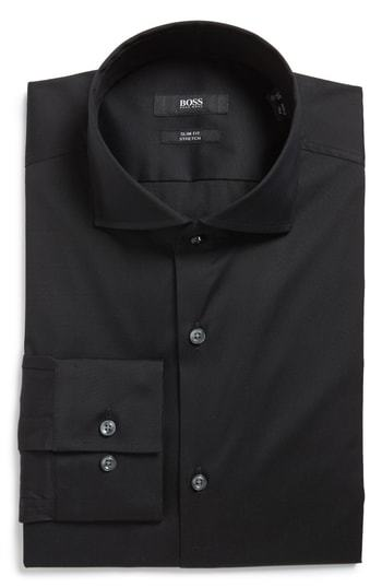 BOSS Jason Slim Fit Solid Stretch Dress Shirt