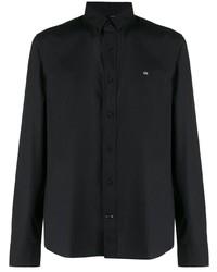 Calvin Klein Logo Embroidered Button Down Shirt