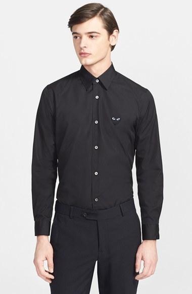 Dress Shirts Comme Des Garcons Play Trim Fit Cotton Oxford Shirt
